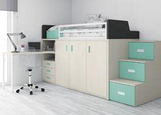 Cama tren - escritorio - Muebles Ros