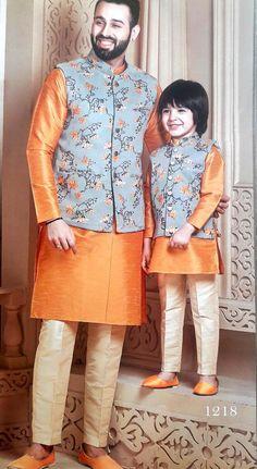 Indian Kurta Pajama with Waist Coat Modi Jacket/ Nehru Jacket set of 3 Traditional Ethnic Phoshak fo Wedding Kurta For Men, Wedding Dresses Men Indian, Wedding Dress Men, Wedding Outfit For Boys, Wedding Outfits, Pakistani Dresses, Kids Indian Wear, Kids Ethnic Wear, Baby Boy Ethnic Wear