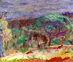 The Ravine / Pierre Bonnard - 1921