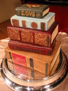 Book cake - this should be under food, but it looks more like a project! Amazing.