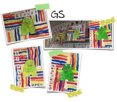Etiquette, Ms, Album, Nursery School, Monsters, Arts Plastiques, Card Book