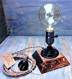 Items similar to Industrial Lamp-Rustic Table Lamp-Steampunk Reading Desk Light-Pipe lamp-Vintage lamps on Etsy Rustic Table Lamps, Lamp Table, Rustic Desk, Best Desk Lamp, Pipe Lighting, Steampunk Lamp, Room Lamp, Bed Room, Wooden Lamp