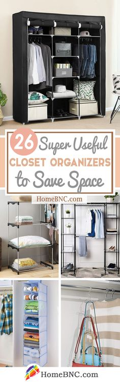 Closet Organizers 788763322221723038 - 26 Stylish Closet Organizers to Stop the Clutter and Improve your Home Source by homebncdecorideas Hanging Spice Rack, Hanging Shelves, Cube Storage, Storage Bins, Storage Ideas, Best Closet Organization, Shelf Dividers, Small Room Decor, Small Space Living