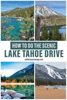 Taking a scenic drive around the lake is one of the best things to do in Lake Tahoe. Using this complete guide with 13 killer stops and you can visit both California and Nevada on your Tahoe vacation. See scenic spots like Kings Beach, Emerald Bay, Sugar Pine State Park and tons of awesome lookout spots.