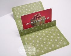 Pop-up gift card holder with tutorial.  Another cute/unique idea for my advent calendar