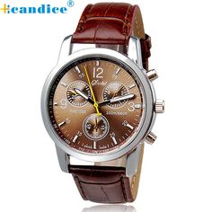 Paradise 2017 reloj  New Luxury Fashion Crocodile Faux Leather Mens Analog Watch Watches Free Shipping Apr08 #shoes, #jewelry, #women, #men, #hats, #watches, #belts
