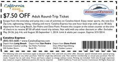 6+ active Catalina Express coupons, promo codes & deals for Dec. Most popular: Free Commodore Lounge Upgrade on $ Gift Card Orders.