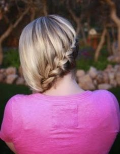 Cute medieval looking waterfall braid hairstyle