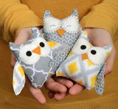 Owl Stuffies by Lynda Creates ~ shared at Brag About It link party on VMG206 (Mondays at Midnight)! #VMG206