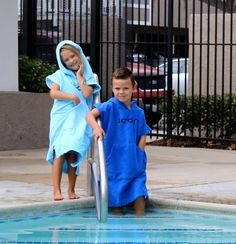 Kids Microfiber Towel Poncho Fits ages 3-8. Soft, Warm with front pockets and hood. You can change you kids anywhere! On Sale! #kids