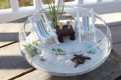 Miniature Beach Vacation with a campfire by LandscapesNMiniature
