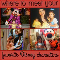 Where to Meet Your Favorite #Disney Characters! Includes a detailed spreadsheet that you can print and take with you on your magical vacation!