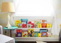 Love the bookshelf under the window!