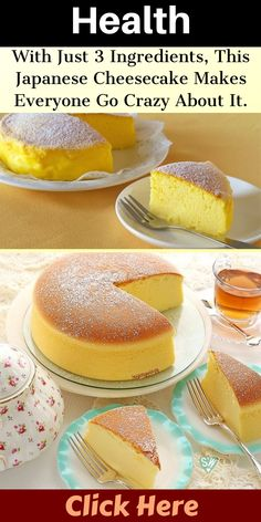 With Just 3 Ingredients, This Japanese Cheesecake Makes Everyone Go Crazy About It. Japanese Cheesecake 3 Ingredients, Japanese Cheesecake Recipes, Japanese Hot Cakes Recipe, Japanese Cake, Sweets Recipes, Candy Recipes, Japenese Food, Southern Caramel Cake, Diet Desserts