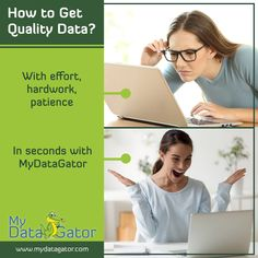 Save big on time and money with MyDataGator. Get fresh and qualified data every time at the click of a button. Data Mining Software, Sale Campaign, Program Design, Lead Generation, Growing Your Business, Work Hard, Effort, Saving Money, Improve Yourself
