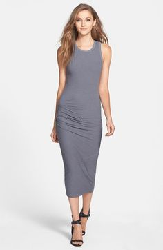 James Perse Stripe Skinny Ruched Tank Dress available at #Nordstrom