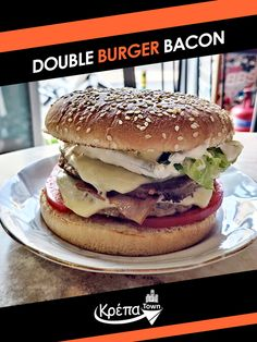 Double Burger Bacon! 🍔 Τα έχει όλα και συμφέρει, θα μπορούσε να είναι η περιγραφή του...  ☎️ 2310.632180 💻 www.krepatown.gr 📍 Μιχαήλ Καραολή 20, Συκιές  #krepatown #Συκιές #Νεάπολη #Πολίχνη #yummy #delicious