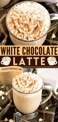 No need to go out just to get your coffee fix! This homemade Christmas drink is ridiculously delicious without needing a lot of work. This creamy White Chocolate Latte is one of the best holiday drinks to make. Save this pin!