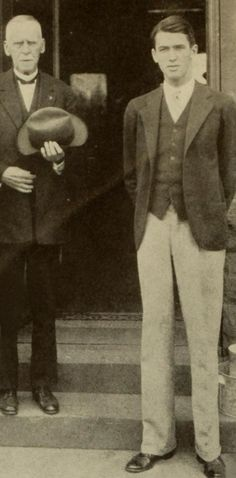 Jimmy with his grandfather c. late 1920s