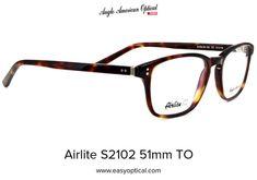 Airlite S2102 51mm TO Glasses, American, Eyewear, Eyeglasses, Eye Glasses
