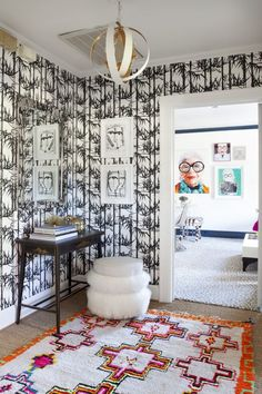 One Room Challenge Fall Office Reveal, Iris Apfel Gallery Wall, The English Room, Holly Hollingsworth Phillips, Iris Apfel L Office, Residential Interior Design, Design Interiors, Simple Interior, Commercial Design, Room Colors, Traditional House, Home Goods, Sweet Home