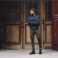 Military style. Men's outfit