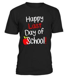 f5e4f69c Happy Last Day of School! Student Teacher Apple Class Tee - Limited Edition  .
