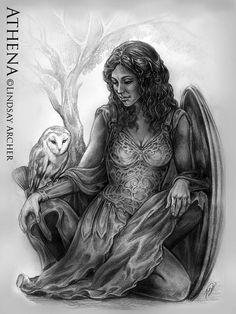 Athena - Goddess of Wisdom by LinzArcher.deviantart.com on @deviantART
