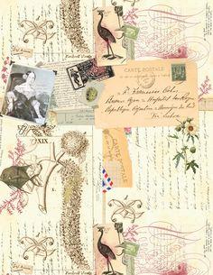 Travelers Notes by Macrina Busato Vintage Ephemera, Vintage Paper, Scrapbook Journal, Scrapbook Paper, Bullet Journal Planner, Junk Journal, Postcard Paper, Envelope Art, Shabby