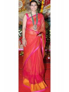 For support Kajol latest sarees in bollywood