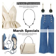 """""""March Specials/Tahitian Pearl Set"""" by pearlparadise ❤ liked on Polyvore featuring Steve J & Yoni P, Delpozo, Gap and Anya Hindmarch"""