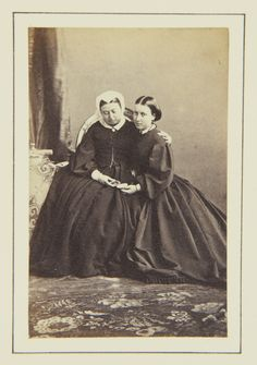 Queen Victoria and Princess Helena, Oct 1862