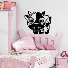 Stickers pour les enfants - Vache aux grands yeux | Ambiance-sticker.com