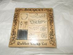 All Night Media Rubber stamp kit Bouquet Flowers leaves ink pad floral designs #AllNightMedia