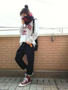 k(ani)さんのコーディネート Girl Fashion, Fashion Outfits, Womens Fashion, Fashion Ideas, Hipster Looks, Korean Fashion, Tweed, Your Style, Hair Beauty