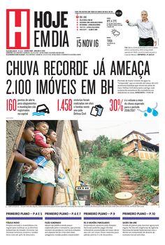 Capa do dia 15/11/2016 #HojeEmDia #Jornal #Notícias #News #Newspaper