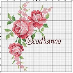 Cross Stitch Rose, Beaded Cross Stitch, Cross Stitch Flowers, Cross Stitch Embroidery, Hand Embroidery, Cross Stitch Alphabet Patterns, Cross Stitch Designs, Crochet Shoulder Bags, Coming Up Roses
