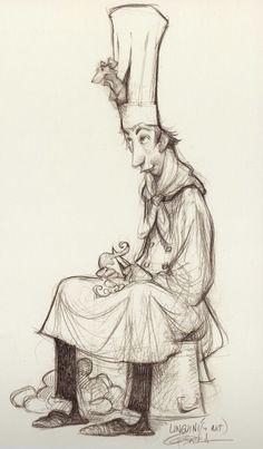 """Ratatouille"" character concept Carter Goodrich"
