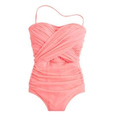 J.crew Tulle Bandeau Tank in Pink (bright guava)