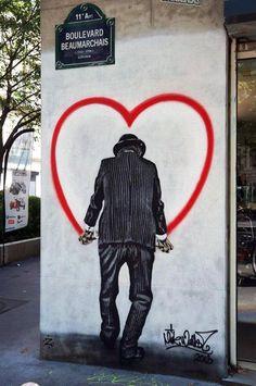Boulevard Beaumarchais 75011 Paris, France   ♥ - Inspirations, Idées & Suggestions, JesuisauJardin.fr, Atelier de paysage Paris, Stéphane Vimond Créateur de jardins en ville #art #LandArt #streetArt #Peinture #art #sculpture #Sandart #sandSculpture #saltscupture