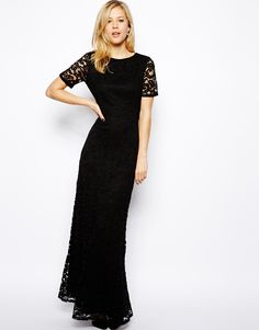 ASOS T-Shirt Maxi Dress In Lace