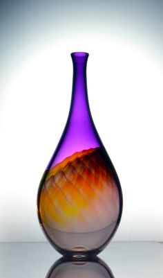 Amethyst Bottle by Delish Glass. American Made