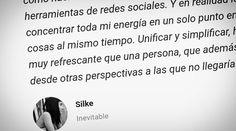 Qué opina Silke de Inevitable (marca de #moda) después de una hora respondiendo a sus dudas sobre #marketing?  Míralo en  www.guillerkrax.es