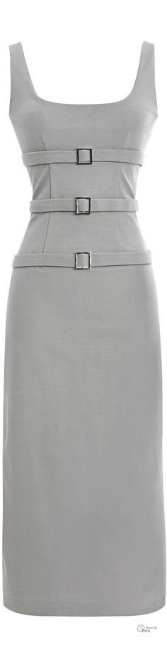 Cushnie et Ochs ● SS 2014, Triple Buckle Dress