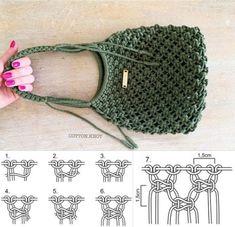 Free Crochet Bag, Crochet Purse Patterns, Macrame Patterns, Love Crochet, Macrame Purse, Macrame Knots, Spiral Crochet, Crochet Symbols, Crochet Needles