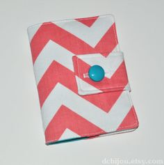 Coral Chevron Fabric Passport Cover. Coral Chevron, Chevron Fabric, Passport Cover, Trending Outfits, Unique Jewelry, Handmade Gifts, Cards, Vintage, Etsy