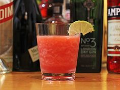If only it were 80 degrees in WI in April...Strawberry and Gin Slushito. Definitely trying this one with Death's Door gin
