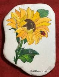 Image Result For Painted Rocks Sunflowers Rock Painting Designs Rock Painting Flowers Rock Painting Art