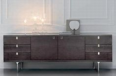 'Zero' side board by Potocco  http://www.coshliving.com.au/indoor-brands/potocco/zero/