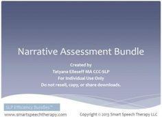 narrative assessment bundle - smartspeechtherapy.com $31.47